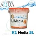 Evolution Aqua K1 (Kaldnes) filtrační médium 5 litrů, nejlepší filtrační médium pro koi, jezírka a akvaristiku