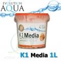 Evolution Aqua K1 (Kaldnes) filtrační médium 1 litr, nejlepší filtrační médium pro koi, jezírka a akvaristiku