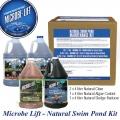 Microbe-Lift Natural Swimming Set pro 100 m3/celý rok, 2x Natural Clear 4l + 1x Natural Algae Control + 1x Natural Sludge reducer, set jezírkových bakterií pro jednu sezónu, pro koupací jezírka a biot
