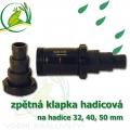 Hadicová zpětná klapka, pro napojení 32, 40, 50 mm