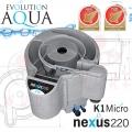 Evolution Aqua Nexus Eazy 220 EAST, filtrace pro koi jezírka a chovy ryb  do 18 m3, pro okrasná a biotopy do 150 m3, včetně 18 l K1 Micro a 100 l K1, 5 let záruka