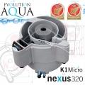 Evolution Aqua Nexus Eazy 320 EAST, filtrace pro koi jezírka a chovy ryb do 34 m3, pro okrasná a biotopy do 250 m3, včetně 20 l K1 Micro a 200 l K1, 5 let záruka, Pure GEL 1 L + BOMB + PURE 1 L