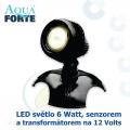 LED osvětlení jezírek a zahrad o výkonu 1x6 Watt se senzorem, včetně trafa a kabelu