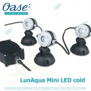 LunAqua Mini LED cold, set 3 světel, trafa a kabelů