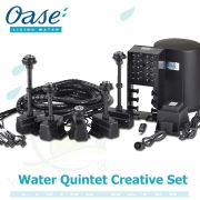 Water Quintet Creative, fontánový systém s pěti individuálním čerpadly a osvětlenými tryskami