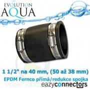 EA EPDM spojka 1 1/2 na 40 mm, eazy connector pro spoj čehokoliv, redukce (přechodka), spoje od 50 až do 38 mm