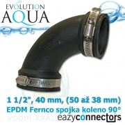 EA EPDM spojka - koleno 1 1/2, 40 mm, (50 až 38 mm)
