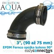 EA EPDM spojka - koleno 3, (90 až 75 mm)