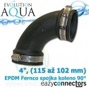 EA EPDM spojka - koleno 4, (115 až 102 mm)