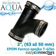 EA EPDM spojka - Téčko 2, (63 až 50 mm)
