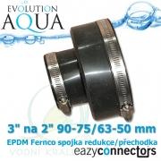 EA EPDM spojka-přechodka 3 na 2 90-75/63-50 mm