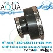 EA-EPDM spojka-přechodka 6 na 4  160-155/111-101 mm