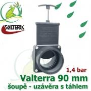 Valterra šoupě 90 mm originál, tažný PVC uzávěr