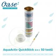 AquaActiv QuickStick 6 in 1, 50 testů kvality vody na 6 různých hodnot