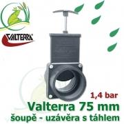 Valterra šoupě 75 mm originál, tažný PVC uzávěr