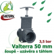 Valterra šoupě 50 mm originál, tažný PVC uzávěr