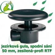 Gula jezírková RTF 50 mm, spodní sání, dnová vpusť 50 mm zesílená se základnou