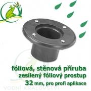 PVC příruba fóliová 32 mm, fóliový prostup zesílený