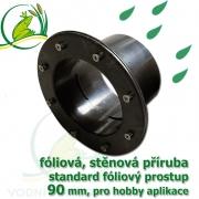 PVC příruba fóliová 90 mm, fóliový prostup standard