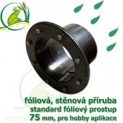 PVC příruba fóliová 75 mm