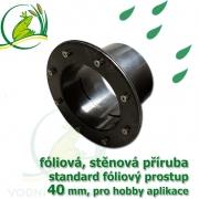 PVC příruba fóliová 40 mm, fóliový prostup standard