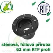 PVC příruba fóliová 63 mm, fóliový prostup extra, RTF