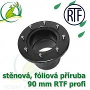 PVC příruba fóliová 90 mm, fóliový prostup extra, RTF