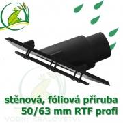 PVC příruba fóliová 45°, 50/63 mm, fóliový prostup extra, RTF