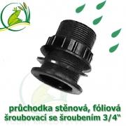 Stěnová průchodka šroubovací PP 3/4, se šroubením