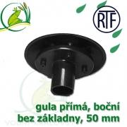 Gula jezírková přímá, dnová vpusť RTF 50 mm, boční, spodní sání bez základny, gula přirubová, trubková