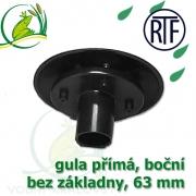 Gula jezírková přímá, dnová vpusť RTF 63 mm, boční, spodní sání bez základny, gula přirubová, trubková