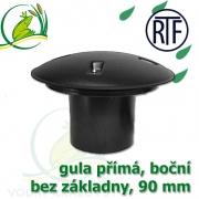Gula jezírková přímá, dnová vpusť RTF 90 mm, boční, spodní sání bez základny, gula přirubová, trubková