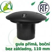 Gula jezírková přímá, dnová vpusť RTF 110 mm, boční, spodní sání bez základny, gula přirubová, trubková