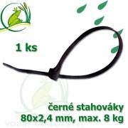 Stahovák č.1, PVC, 80 mm, 1 ks, tloušťka 2,4 mm, nostnost 8 kg