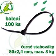 Stahovák č. 1, PVC, 80 mm, balení 100 ks, tloušťka 2,4 mm, nostnost 8 kg