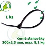Stahovák č.4, PVC, 200 mm, 1 ks, tloušťka 2,5 mm, nostnost 8,1 kg