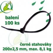Stahovák č. 4, PVC, 200 mm, balení 100 ks, tloušťka 2,5 mm, nostnost 8,1 kg