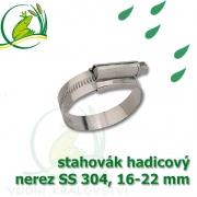 stahovák nerez 16-22 mm, UK made S304, šíře pásky 12 mm