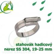 stahovák nerez 19-25 mm, UK made S304, šíře pásky 12 mm