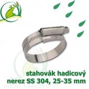 stahovák nerez 25-35 mm, UK made S304, šíře pásky 12 mm