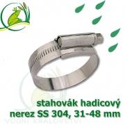 stahovák nerez 31-48 mm, UK made S304, šíře pásky 12 mm