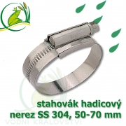 stahovák nerez 50-70 mm, UK made S304, šíře pásky 12 mm