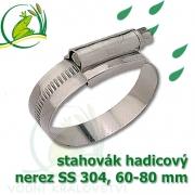stahovák nerez 60-80 mm, UK made S304, šíře pásky 12 mm