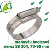 stahovák nerez 70-90 mm, UK made S304, šíře pásky 12 mm