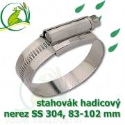 stahovák nerez 83-102 mm, UK made S304, šíře pásky 12 mm