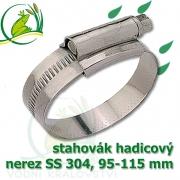 stahovák nerez 95-115 mm, UK made S304, šíře pásky 12 mm