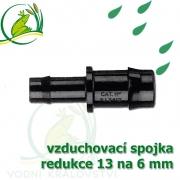 Spojka redukce PP, 12-13x6 mm, vzduchovací, hadičková