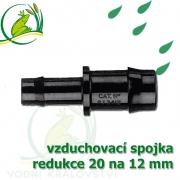 Spojka redukce PP, 19-20x12-13 mm, vzduchovací, hadičková