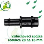 Spojka redukce PP, 19-20x16 mm, vzduchovací, hadičková