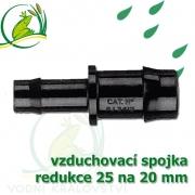 Spojka redukce PP, 25x19-20 mm, vzduchovací, hadičková